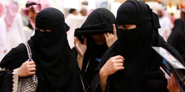 Saudi women visit the Saudi Travel and Tourism Investment Market (STTIM) fair in Riyadh, Saudi Arabia, Monday, March 29, 2010