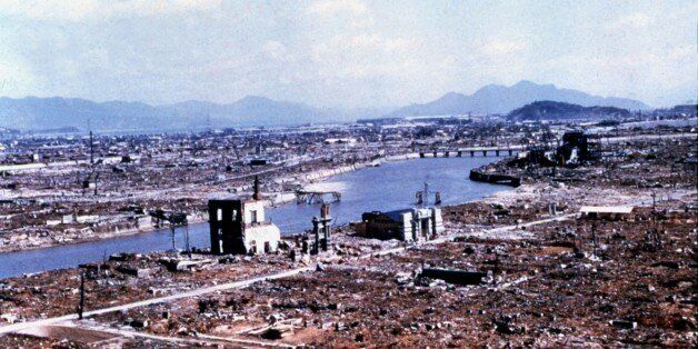 Hiroshima reduced to rubble and ruins by the atomic bomb, March 1946, Japan - World War II, U.S. Air Force, . (Photo by: Phot