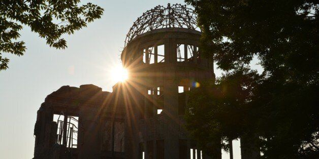 This picture taken on August 5, 2015 shows the Atomic Bomb Dome beside the Peace Memorial Park in Hiroshima. Tens of thousand