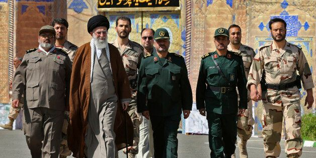 In this picture released by an official website of the office of the Iranian supreme leader on Wednesday, May 20, 2015, Supre