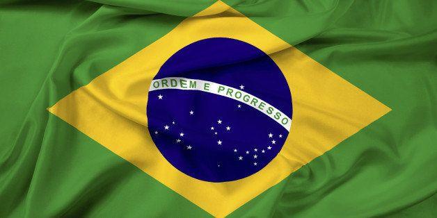 Waving Brazil Flag