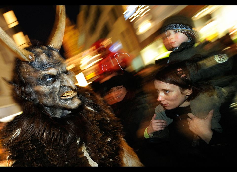No doubt one of the most terrifying holiday traditions hails from the Austrian Alps, where a figure known as Krampus accompan