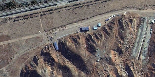 PARCHIN, IRAN-NOVEMBER 7, 2012:  This is a satellite image of the Parchin high explosive test site collected on November 7, 2