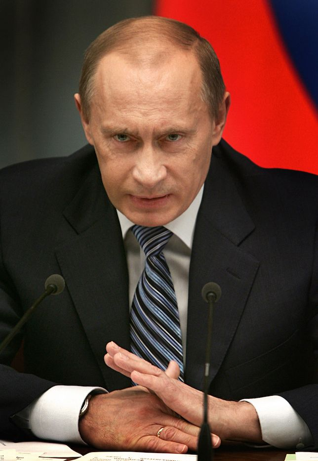 Prime Minister Vladimir Putin in Presidential Council Meeting in Moscow, Russia - 25 Feb 2009