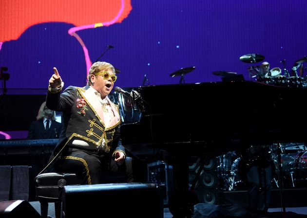 Elton John performing earlier this