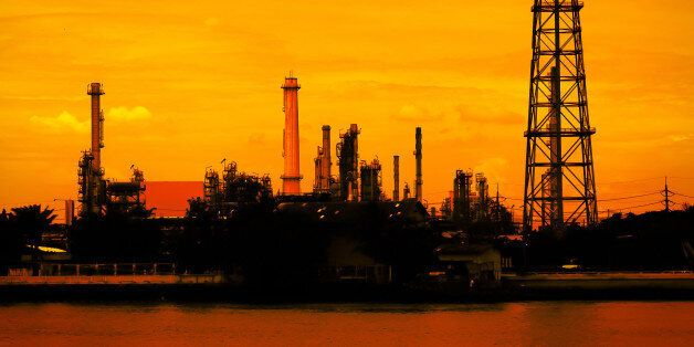 petroleum oil refinery factory...