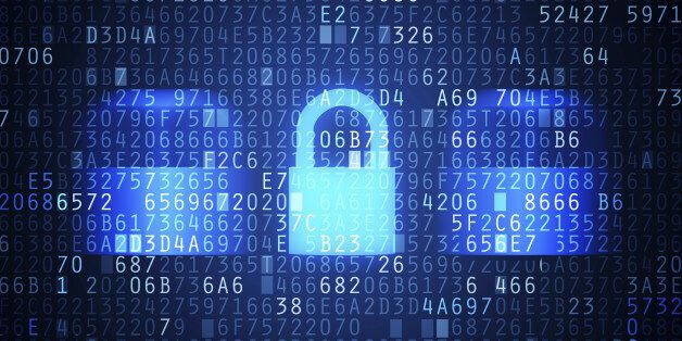 Computer security code abstract image. Password protection conceptual image.