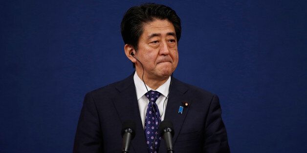 SEOUL, SOUTH KOREA - NOVEMBER 01:  Japanese Prime Minister Shinzo Abe speaks during a joint news conference after trilateral