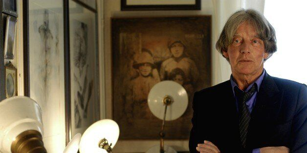 FRANCE - CIRCA 2006:  Andre Glucksmann in Paris, France in 2006 - French philosopher and essayist in his apartment.  (Photo b