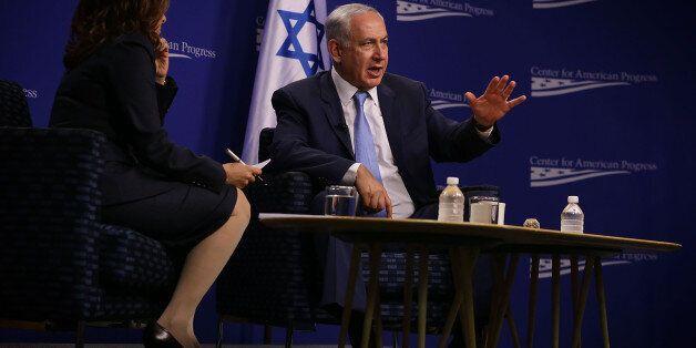 WASHINGTON, DC - NOVEMBER 10:  Israeli Prime Minister Benjamin Netanyahu participates in a conversation at the Center for Ame