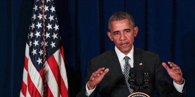 KUALA LUMPUR, MALAYSIA - NOVEMBER 22:  U.S. President Barack Obama speak to media during a news conference on November 22, 20