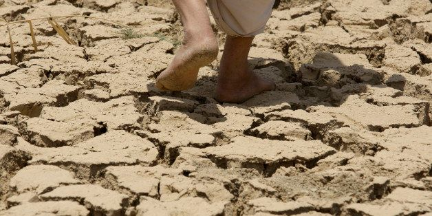 In this photo taken Thursday, July 9, 2009, Ashur Mohammed, 60, checks his land in Latifiyah, about 30 kilometers (20 miles)