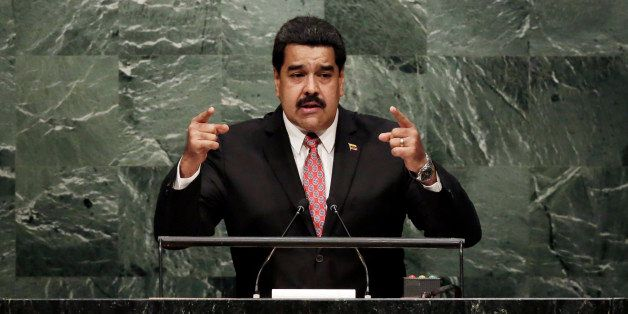 Venezuela's President Nicolás Maduro Moros addresses the 70th session of the United Nations General Assembly, at U.N. Headqu