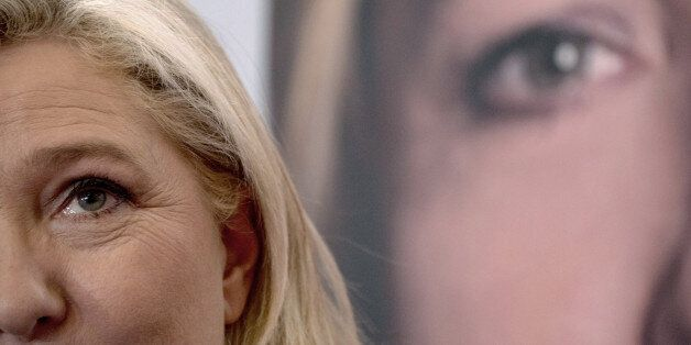 France's far-right National Front (FN) leader Marine Le Pen holds a press conference in Lille on December 7, 2015, a day afte