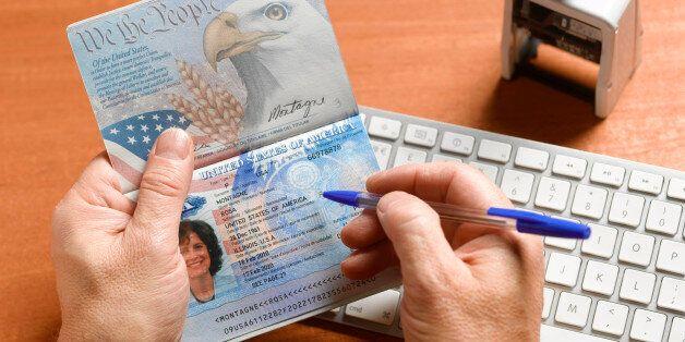 Passport control with american passport