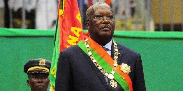 Burkina Faso's new president Roch Marc Christian Kabore is pictured following his swearing-in ceremony in Ouagadougou on Dece