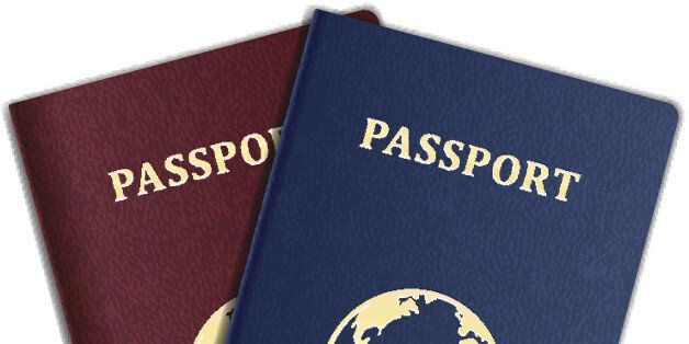 Vector Passports with map isolated on white background. EPS10 opacity