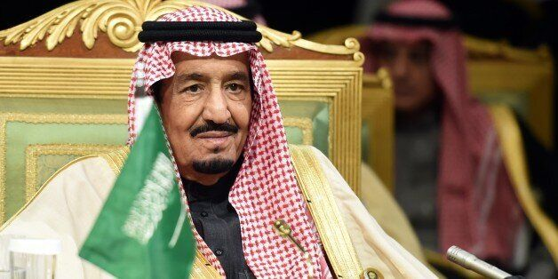Saudi King Salman bin Abdulaziz attends the second day of the 136th Gulf Cooperation Council (GCC) summit held in Riyadh, on