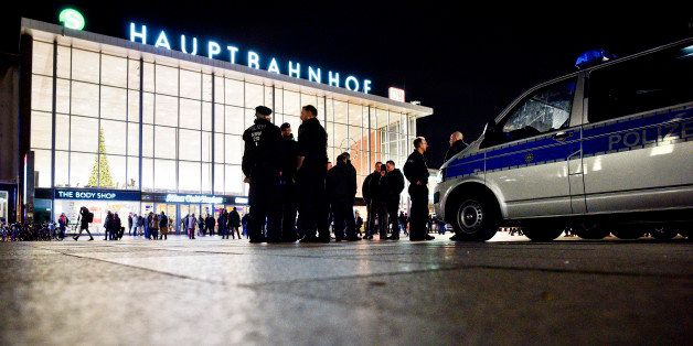 COLOGNE, GERMANY - JANUARY 09:  Police stand guard in front of Hauptbahnhof main railway station after an Pegida, Hogesa (Hoo