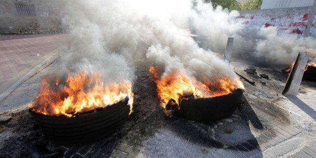 Tire fires burn in a third straight day of protests against Saudi Arabia's execution of Saudi Shiite cleric Sheikh Nimr al-Ni