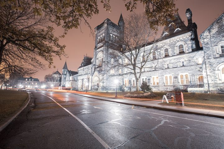 The St. George Campus of the top tier University of Toronto. Canada has a much more streamlined approach to college admissions than the U.S.
