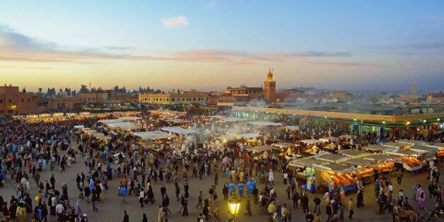 Jemaa el Fna square in Marrakech, Morocco