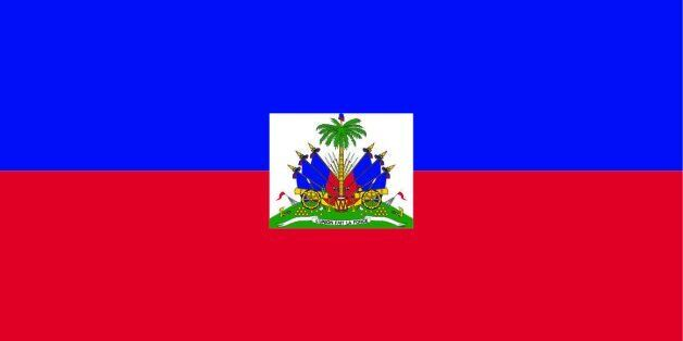 Flag of the country Haiti Vector illustration in official colors.