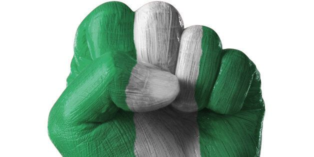 painted, flag, country, nigeria, colorful, nation, pride, power, propaganda, fierce, fist, punch, unity, one, together, fight