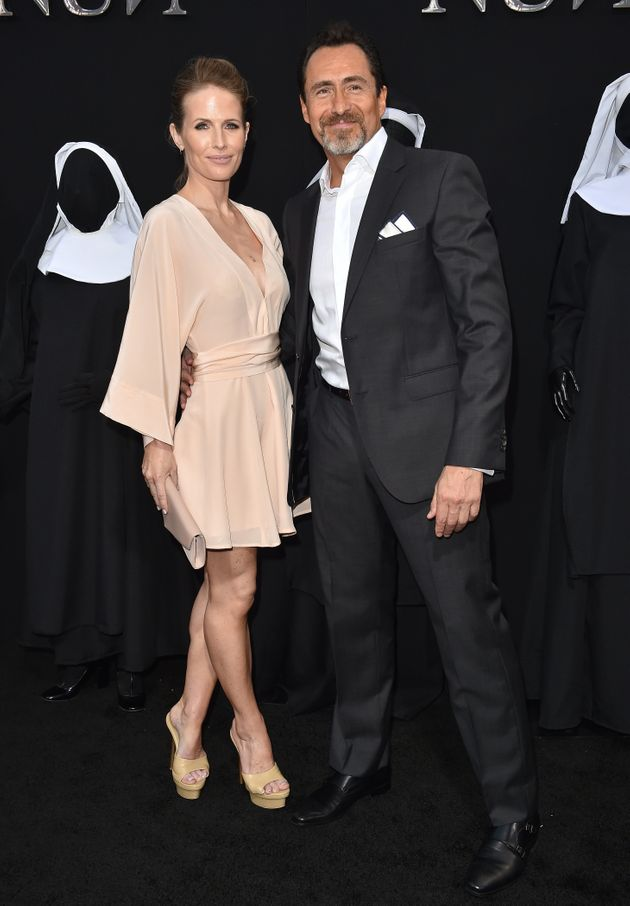 Stefanie and Demián at the premiere of The Nun last