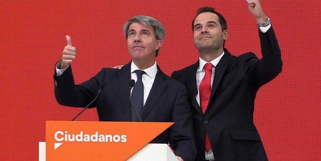 Ángel Garrido e Ignacio Aguado, en la rueda de prensa de