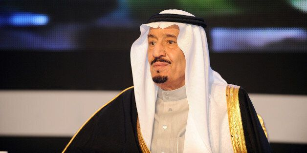 Saudi Defence Minister Prince Salman bin Abdul Aziz looks on during the King Faisal International prize awards ceremony held