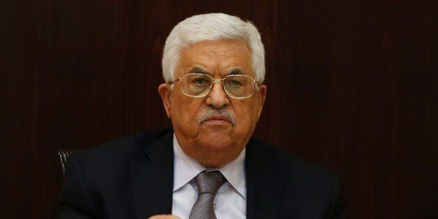 Palestinian president Mahmud Abbas chairs a meeting of the executive committee of the Palestine Liberation Organisation (PLO)