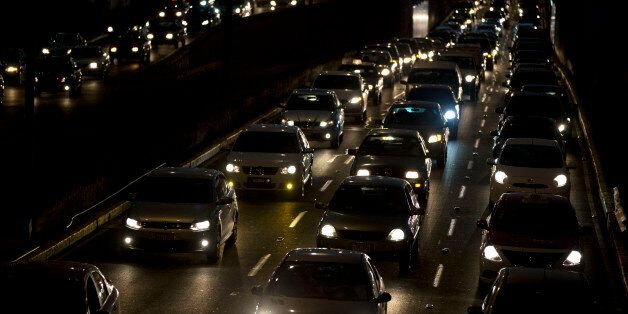 Cars sit in evening rush hour traffic in Mexico City, Wednesday, March 30, 2016. Metropolitan authorities on Wednesday tempor