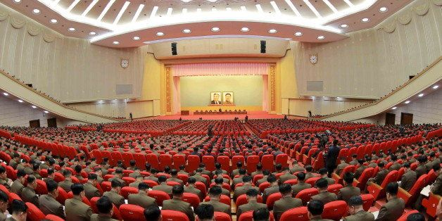 A view of a joint meeting of the Central Committee of the Workers' Party of Korea (WPK) and the Korean People's Army (KPA) Co