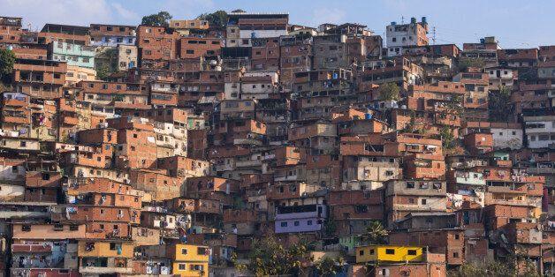 Barrios, slums of Caracas on the hillside
