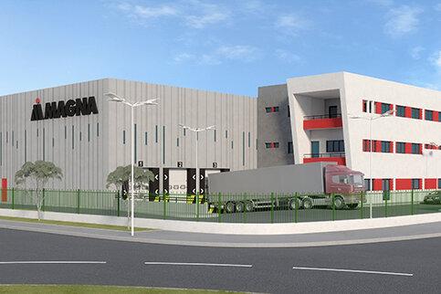 Magna a récemment entamé les travaux de construction d'une nouvelle installation à...