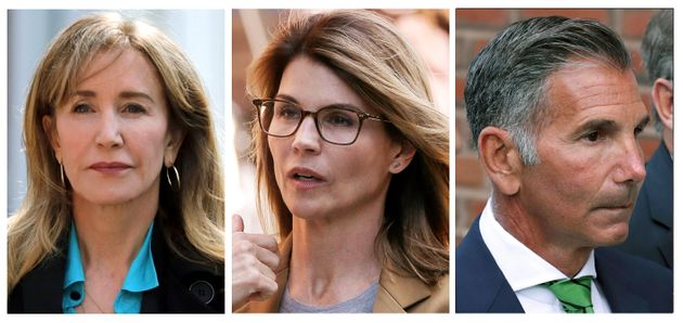 Felicity Huffman, Lori Loughlin and Mossimo Giannulli (left to right) are among dozens of people accused...