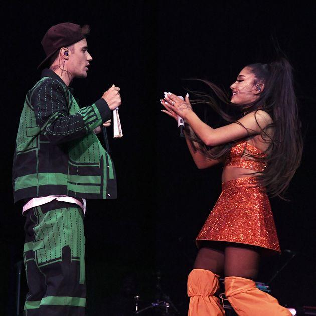 Justin Bieber and Ariana