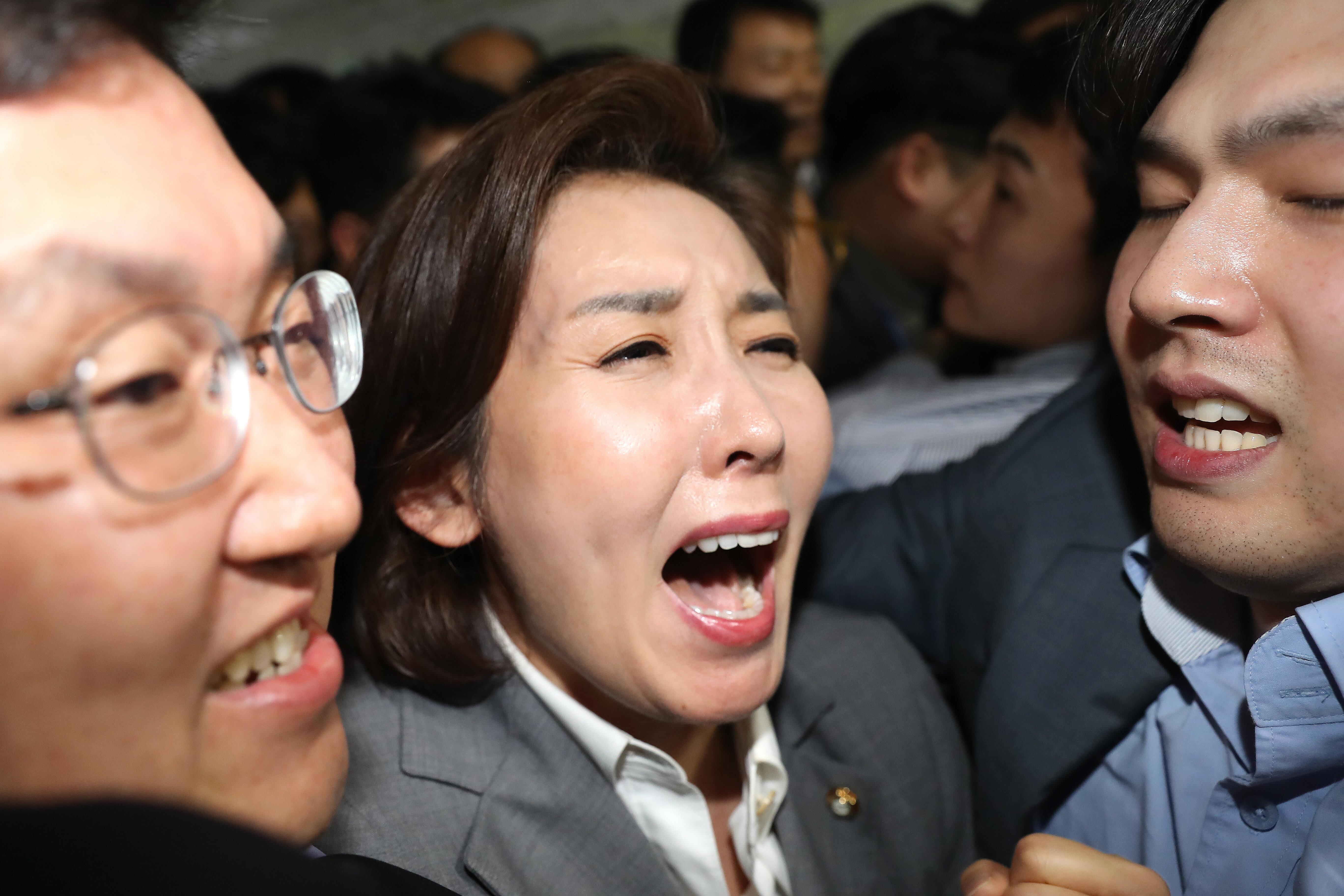 """나경원 원내대표가 """"대한민국 국회는 죽었다""""고"""