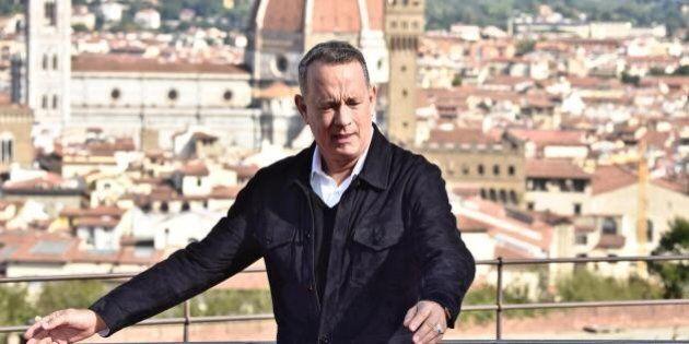 Tom Hanks senza fiato di fronte alla Porta del Paradiso di Ghiberti: