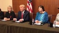 Trump appare su Facebook con le accusatrici di Bill