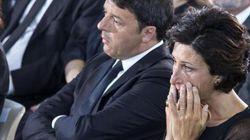 Le lacrime di Agnese ai funerali delle vittime del terremoto: