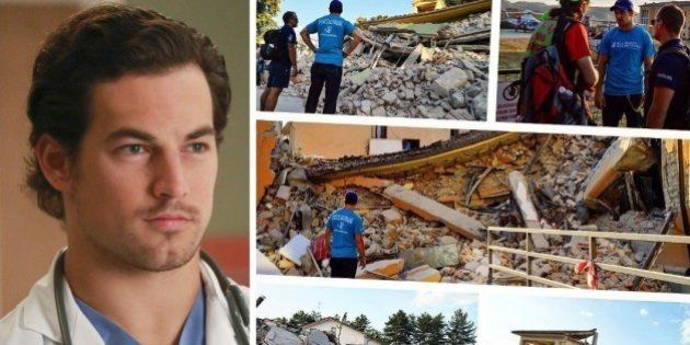 Terremoto, Giacomo Gianniotti, alias Andrew De Luca di Grey's Anatomy, volontario ad