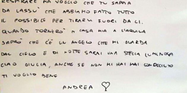 Andrea e Giulia, una lettera per