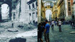 La Milano di un tempo: bombardata e