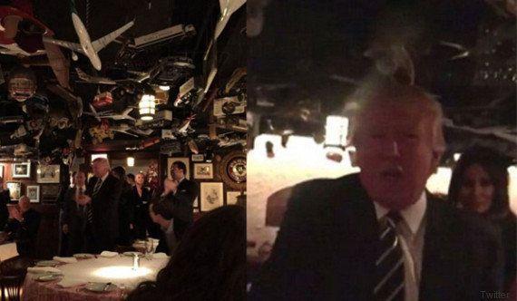 La prima uscita pubblica di Donald Trump dopo il trionfo alle elezioni è al pub: bistecca e Bloody Mary...
