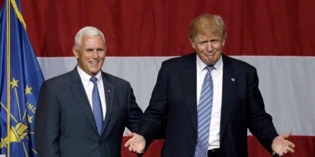 Donald Trump ufficializza la candidatura di Mike Pence a