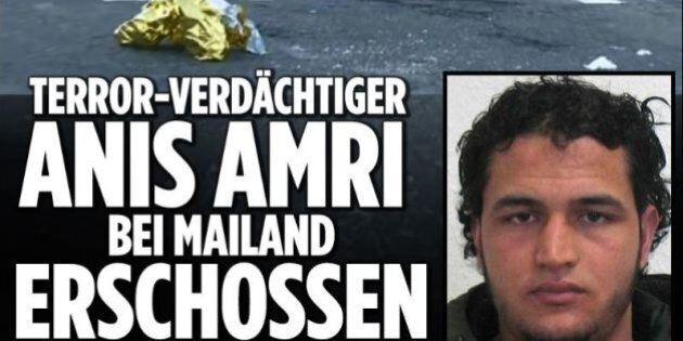 Anis Amri ucciso a Sesto San Giovanni. Bild online a caratteri cubitali: