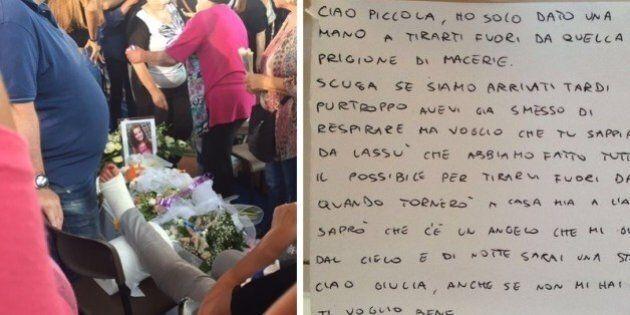 Parla il Vigile del Fuoco Andrea, autore della lettera sulla bara di Giulia.
