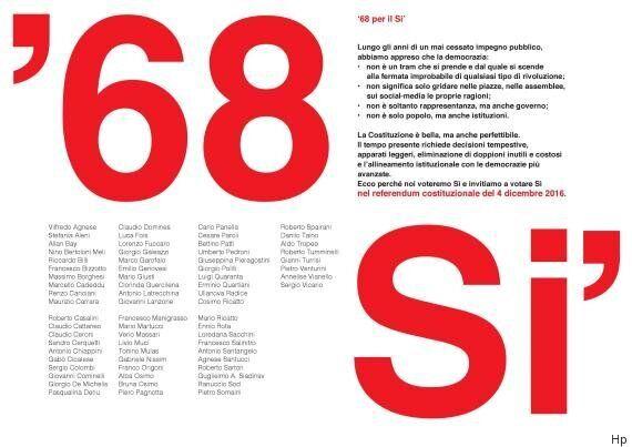 Referendum. I Sì che non ti aspetti: per Renzi appello in 68 firme da Lotta Continua ad Avanguardia